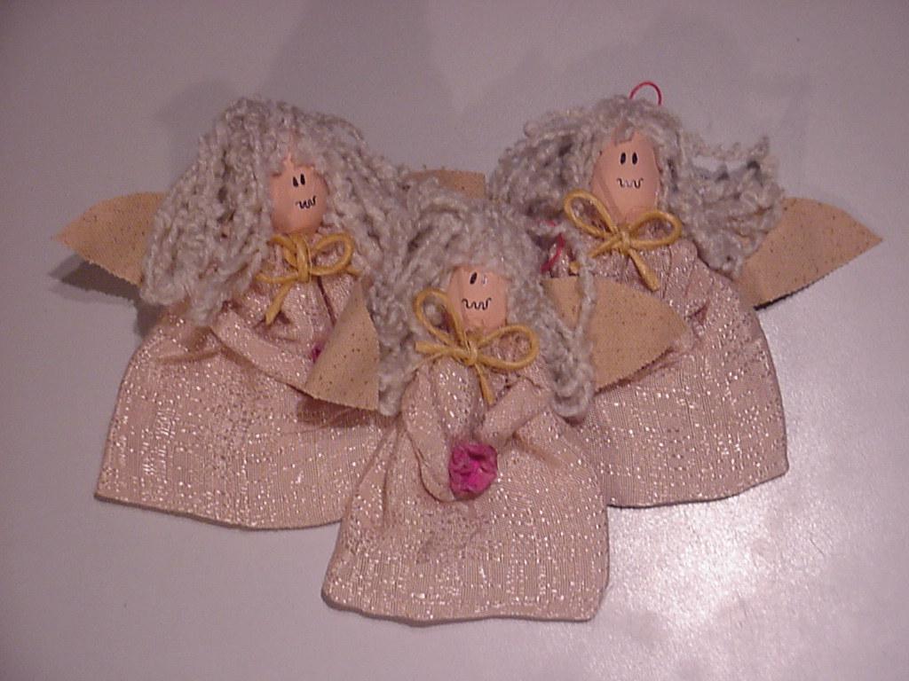 Christmas Light Bulb Angels