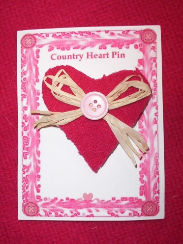 Country Heart Pin