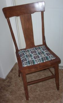 Placemat Chair Cushion Makeover
