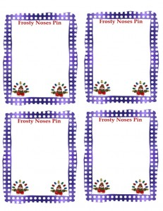 Frost Nose Snowman Pin Printable
