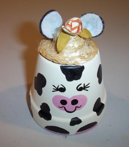 Cow Clay Pot