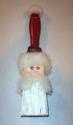 Santa Brush Decoration