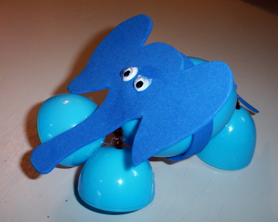 Plastic Egg Elephant