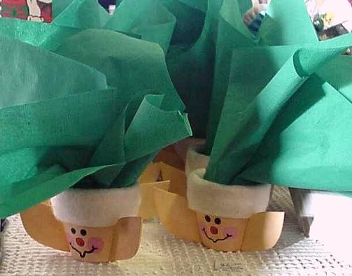 Elf Napkin Holder Clay Pots