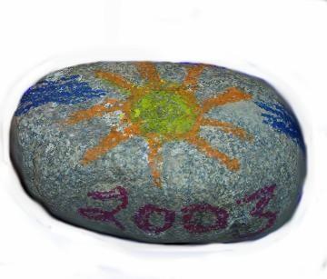 Funky Crayon Designed Rocks