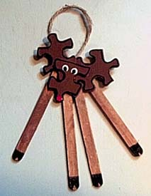 Rudolph Reindeer Puzzle Decoration